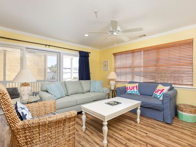 Photo for Relax and Enjoy the Beach! Pet Friendly Condo Only 50 Yards to the Beach