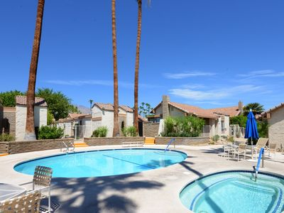 Photo for Single story Canyon Sands condo in South Palm Springs w/ Tennis Courts