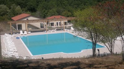 Photo for Two-room apartment with a patio just steps from Palinuro and in the countryside Cilento