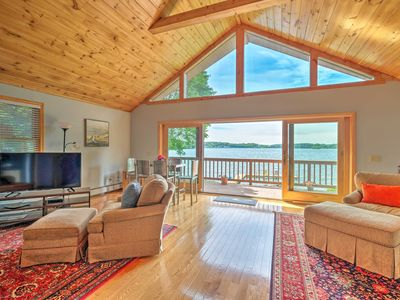 Photo for Beautiful Berkshires Lake House w/ Private Dock!