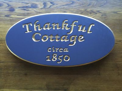 Thankful Cottage historic plaque...she is 165 years old!