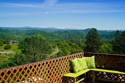 Amazing views off the deck.