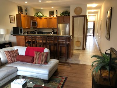 Photo for Pet-friendly vacation condo with updated appliances & king bed, overlooking pool
