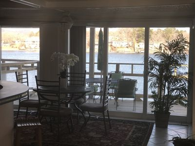 Photo for Lake Hamilton Condo on lakefront w/ boat dock and pool.