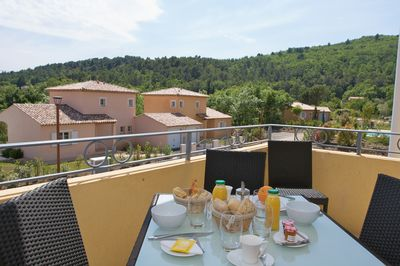 Your apartment comes with a balcony or terrace. Views vary!