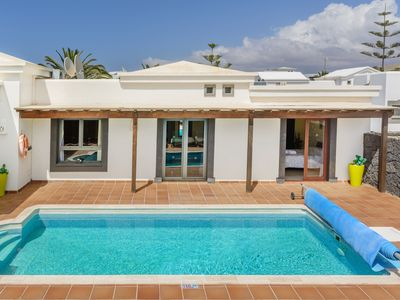Photo for Luxurious Villa with Heated Pool, Gym, Terraces, Garden, Wi-Fi and Air Conditioning; Parking Available