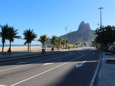 Photo for Spacious 2 bedroom and 2 bathroom apartment steps from Ipanema beach.