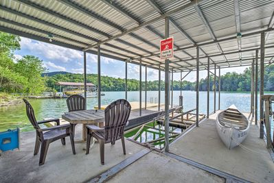 You'll have a swimming dock and covered boat slip!