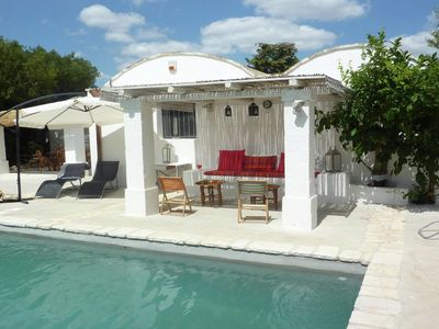 Photo for Typical stone Trullo with private pool set in the countryside near Ostuni