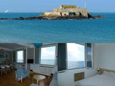 Photo for Apartment 67m2 exceptional sea view on the Sillon near Intramural