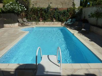 Photo for Lovely house, garden with pool in tranquil village near coast and countryside