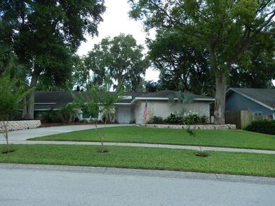 Photo for Centrally located private pool home, with spa, and tennis courts in subdivision.