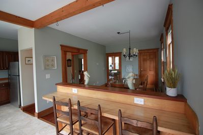 Breakfast bar or laptop working area.  Incl. USB Wall outlet.