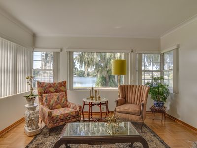 Photo for Lakeside Home in Affluent Neighborhood. Easy walk to Shops and Dining
