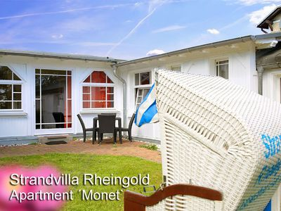 Photo for May offer! Excl., Beachfront Whg. On the property of the beach villa Rheingold