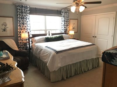 Photo for King Bedroom w/ bath @ the Big Green House B&B-country setting, city convenience