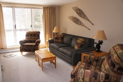 Living Room With Sleeper Sofa and two Recliners