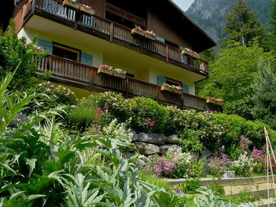 Photo for LOVELY CHALET APARTMENT - MONT BLANC VIEW  - LARGE GARDEN - CHILDREN'S PLAY AREA