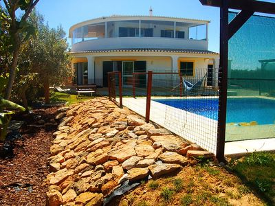 Photo for Villa in Luz Beach overlooking the sea, private swimming pool and golf.