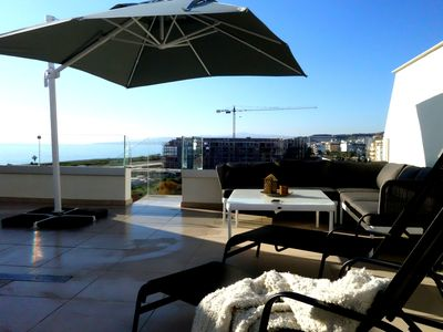 Photo for Large private roof terrace with sea view, without transparency