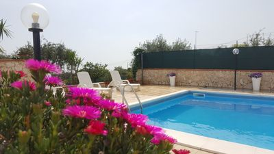 Photo for Villa with private pool, beautiful views of Mount Etna and the Ionian sea.