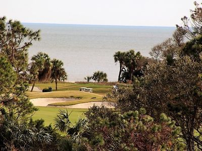 Photo for 3 BED,2 BTH,OCEAN & GOLF COURSE VIEW FROM BALCONY, WASH/DRYER IN VILLA, SLEEPS 8