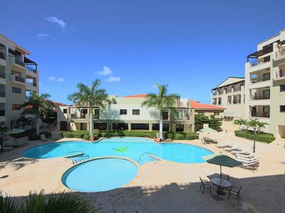 Photo for Spacious and Modern Condo, Charming view of the Pool from Balcony, Perfect for Couples