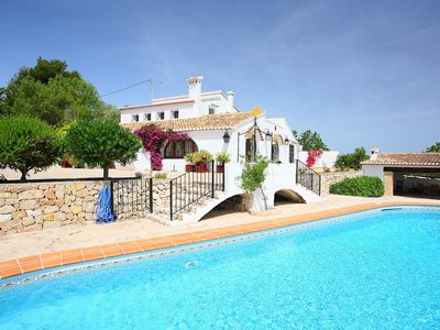 Photo for This 5-bedroom villa for up to 10 guests is located in Benissa and has a private swimming pool and a