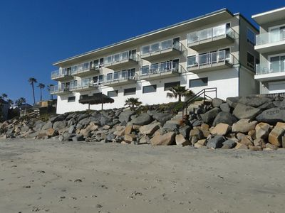 Photo for Ocean Front Condo with Private Upper Beach & Just Steps to the Water