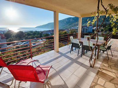 Photo for Two bedroom apartment with terrace and sea view Komiža, Vis (A-8844-c)