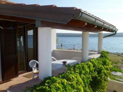 Photo for Two bedroom apartment with terrace and sea view Nerezine (Lošinj)