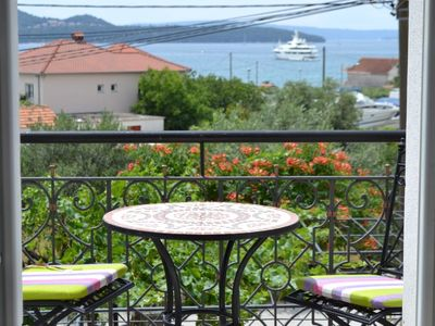 Photo for Charming Sea View Apt for 4 near Trogir