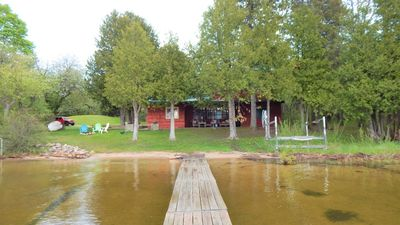 Photo for Perfect family beachfront cottage on Lake Charlevoix
