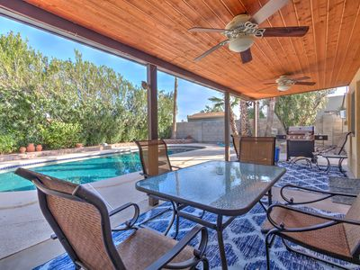 Photo for 5BR/3BA Luxurious Villa w Private Pool & MIL Suite - Sleeps 18!