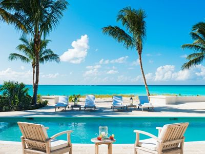 Photo for Fully Staffed 5 Bedroom Beach Front Villa in Turks and Caicos