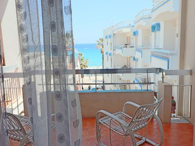 Photo for Central Apartment with Wi-Fi, Air Conditioning & Balcony with Sea View; Garage Available, Pets Allowed