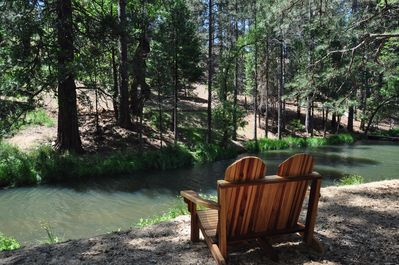 Backyard/Lake view Unit 4 Lot 82 Vacation Rental (My Huckleberry Hideaway)