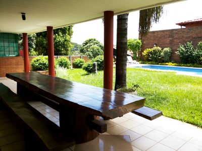Photo for 4 Bedrooms, Villa, Pool, Tropical Garden in Paraguay in South America