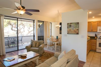 Walking into the condo opens up to expansive Ocean Views off the lanai.