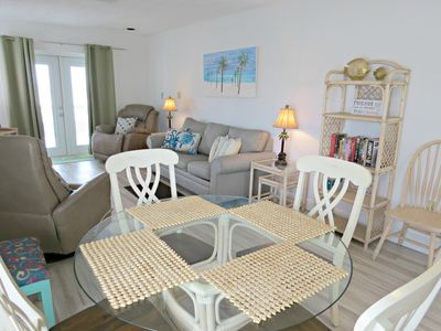 Photo for TOP RENTAL,BEACH FRONT, GROUND LEVEL,Great price, 2bed/2 bath,GazeboBook me now!