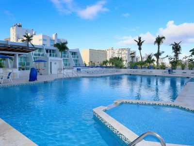 Photo for A Slice of Paradise...BEACHFRONT, too! FREE in Room WI-FI & BRAND NEW POOL!