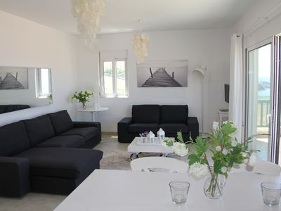 Photo for Luxurious and modern 3 room holiday apartment, Rethymno, Panormos with sea view