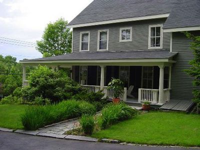 Photo for Former Sea Captains' 1850s Greek Revival home minutes to town and boat launch