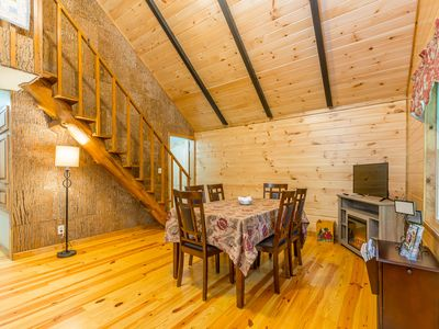 Photo for Cozy cabin w/2 private FISHING PONDS next to downtown Clayton - 5 bedrooms!!