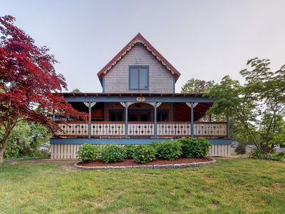 Photo for Victorian cottage w/ nearby water access, a spacious porch, & two master suites