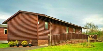 Photo for SkyeView -  Hot Tub Lodge, on Felmoor Park, Northumberland for 6, Dog Friendly