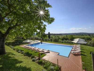 Photo for Villa Monarca 7beds/7baths for 14  with panoramic pool, gardens,Wifi, Air cond,