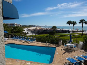Direct St Pete Beach Beachfront Condo. Overlooking the Heated Pool. Fantastic Views!!