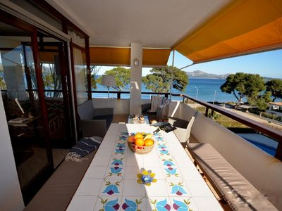 Photo for Apartment / Penthouse Puerto Pollensa, Front line, pool, great views, 3 bedrooms