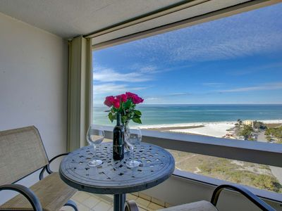 Photo for Private Beach, Full Gulf Views, Wifi/Cable, Heated Swimming Pool Overlooking Ocean, Walk to Village